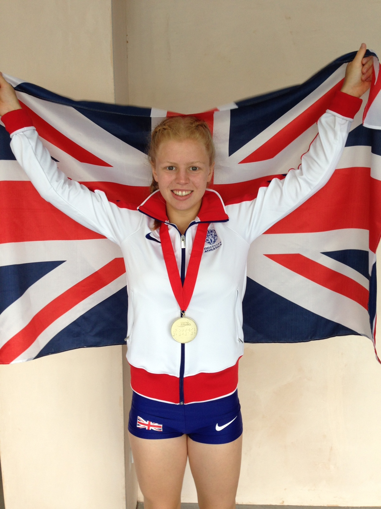 A victorious Esme O'Connell with her gold medal