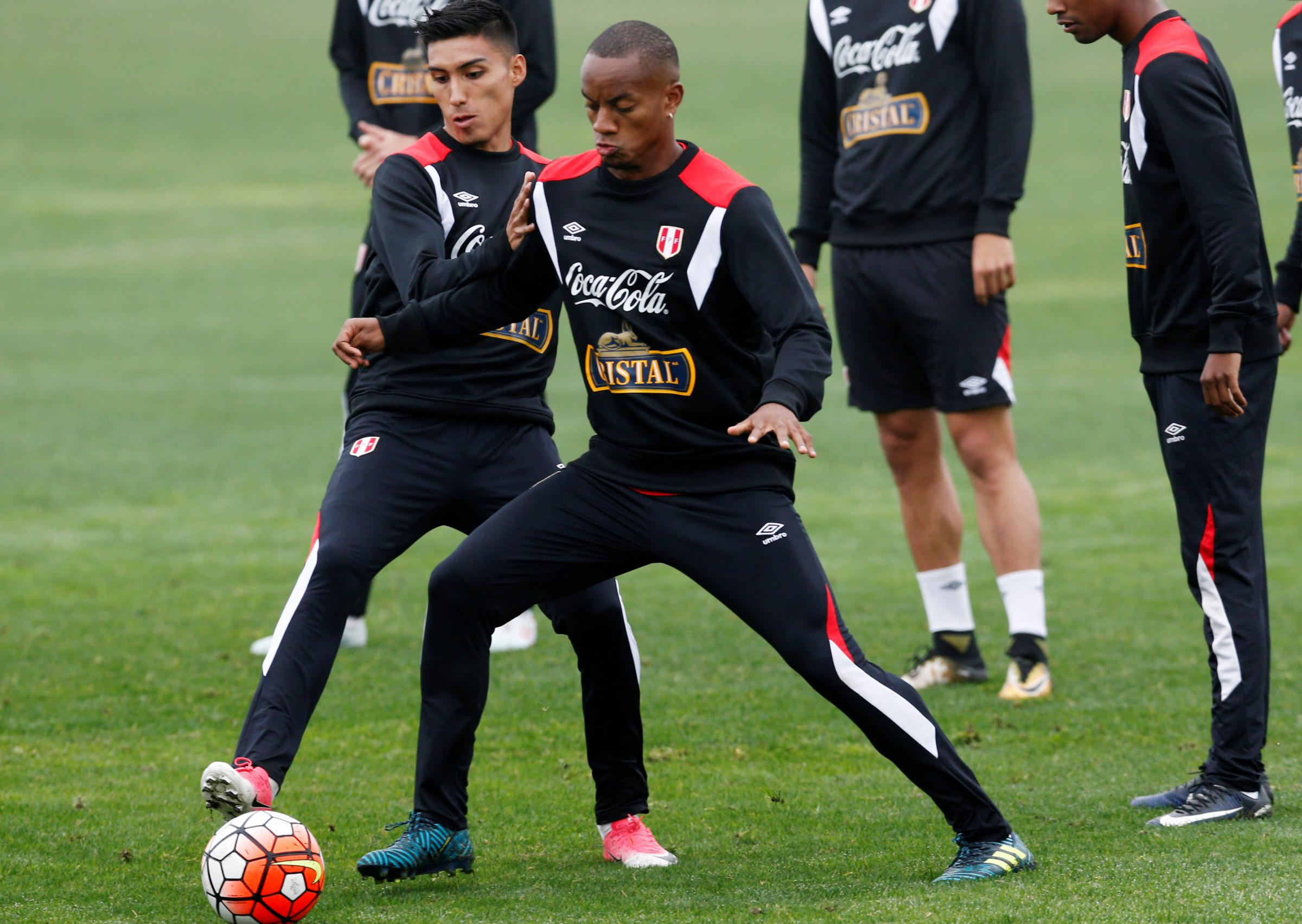 Andre Carrillo prepares for last night's World Cup qualifier with Ecuador. Picture: Action Images