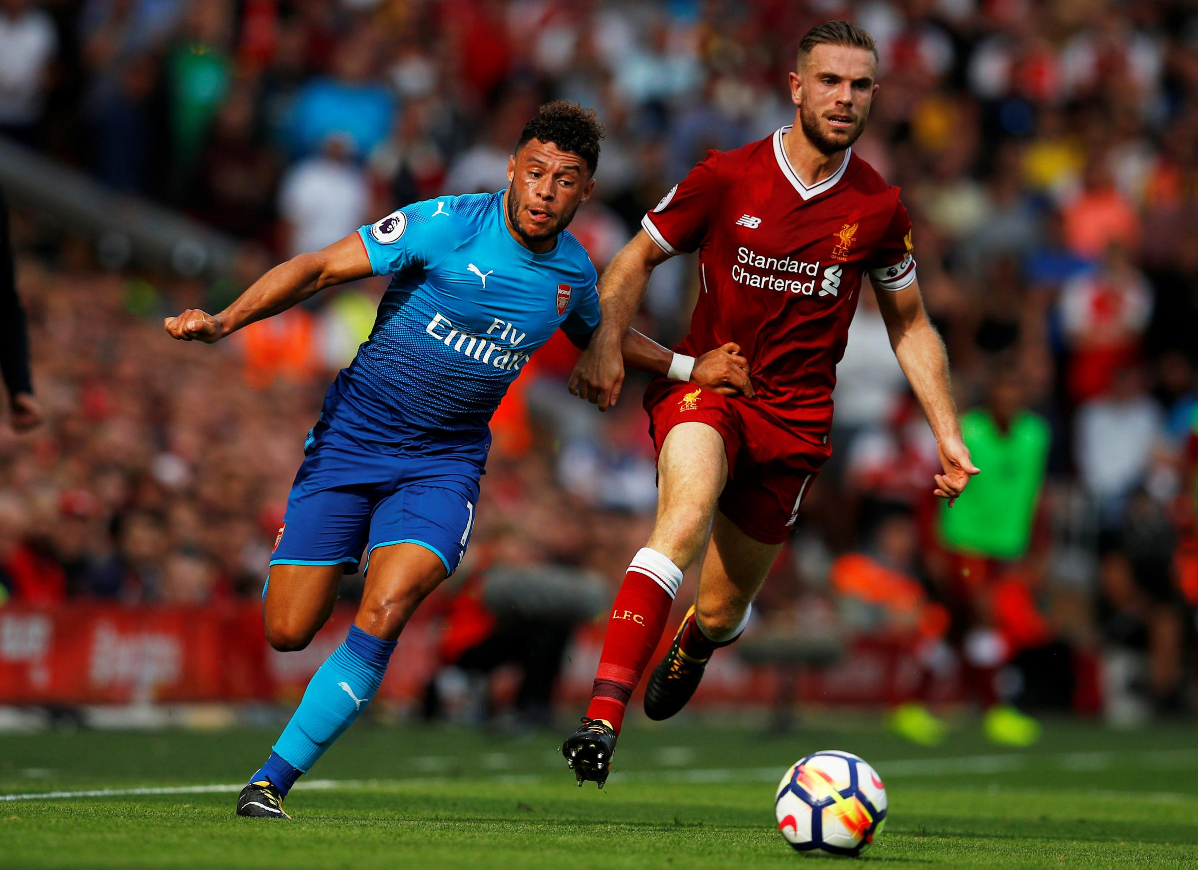 Alex Oxlade-Chamberlain joined Liverpool only five days after playing against them for Arsenal. Picture: Action Images