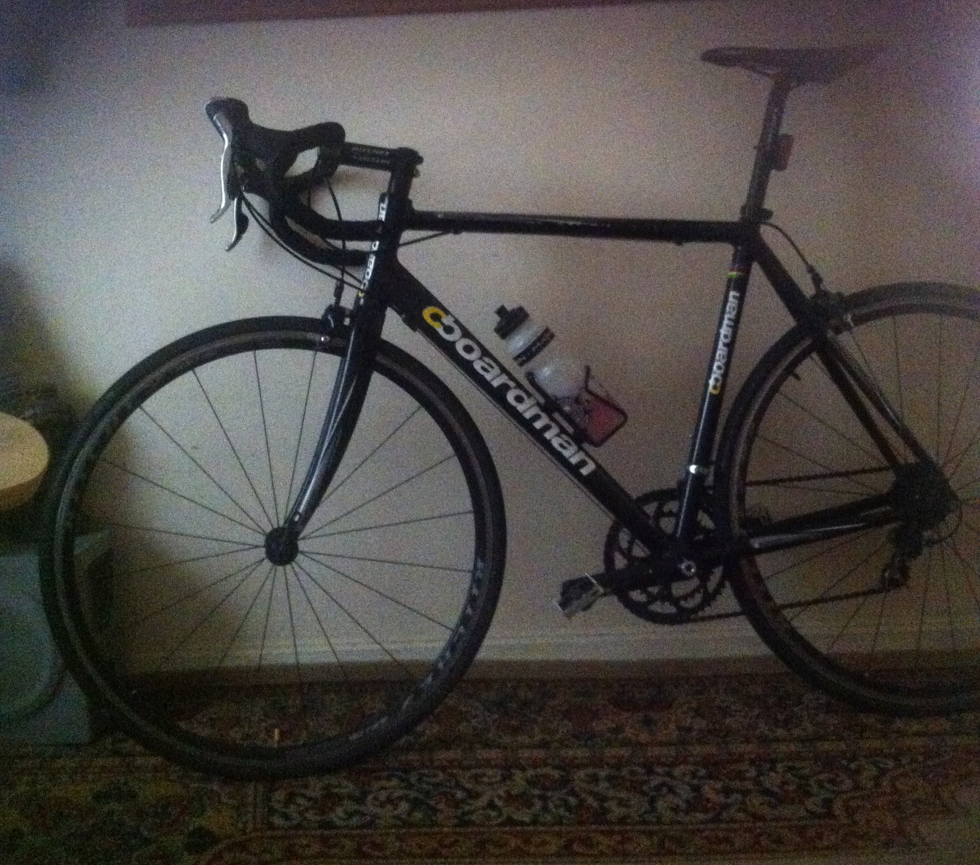The man's Boardman racing bike was stolen in the attack