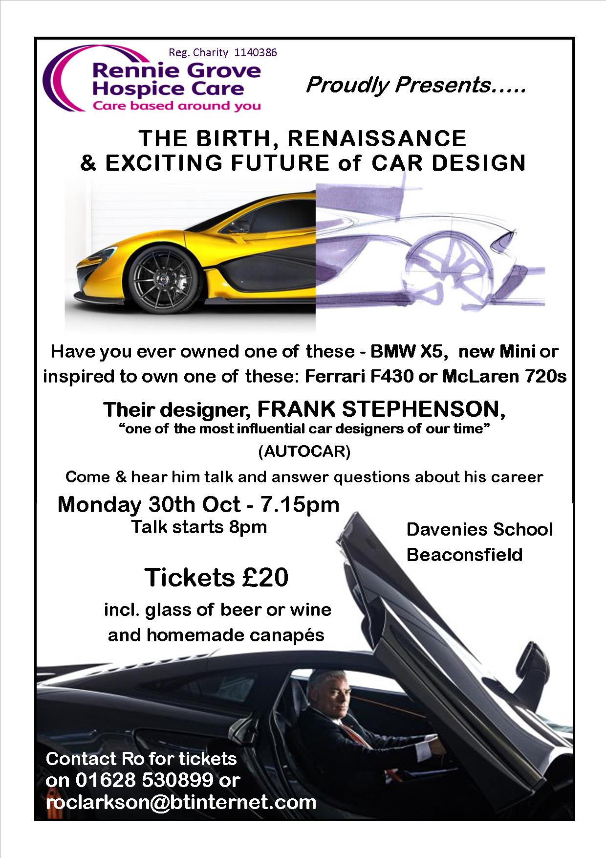 Rennie Grove Hospice Care - The Birth, Renaissance & Exciting Future of Car Design