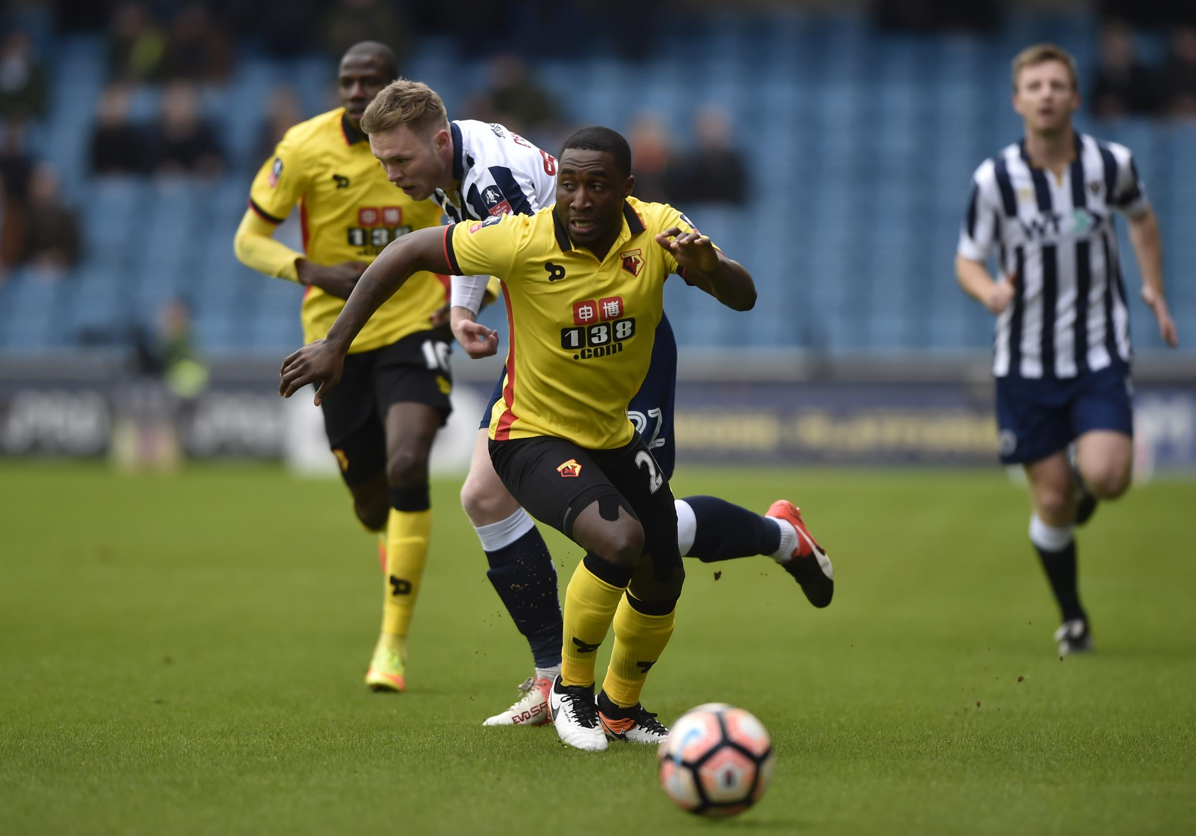 Brice Dja Djedje played 63 league games in three seasons for Marseille, but not a single Premier League match for Watford. Picture: Action Images