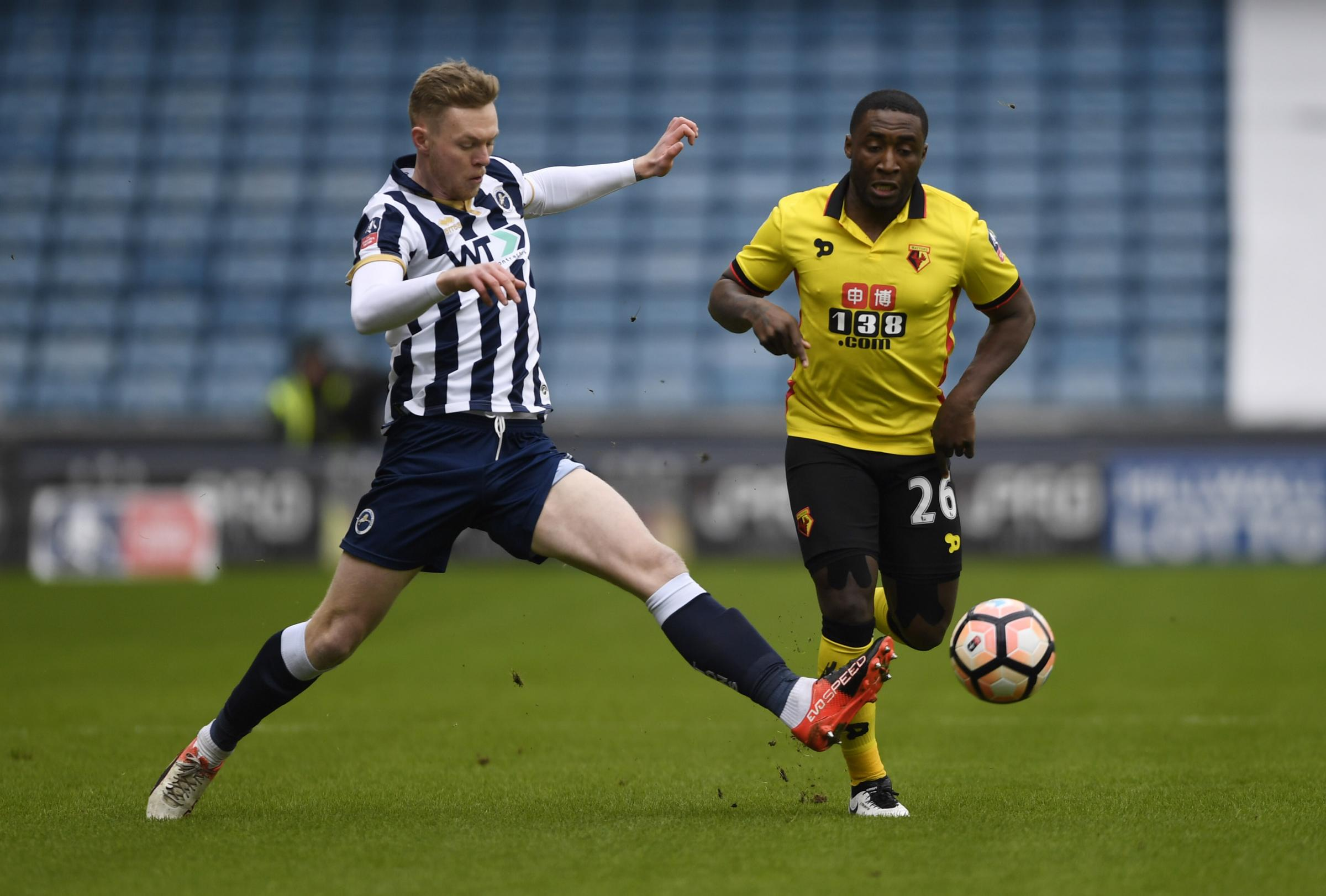 Brice Dja Djedje's last first-team appearance came at Millwall in 2016. Picture: Action Images