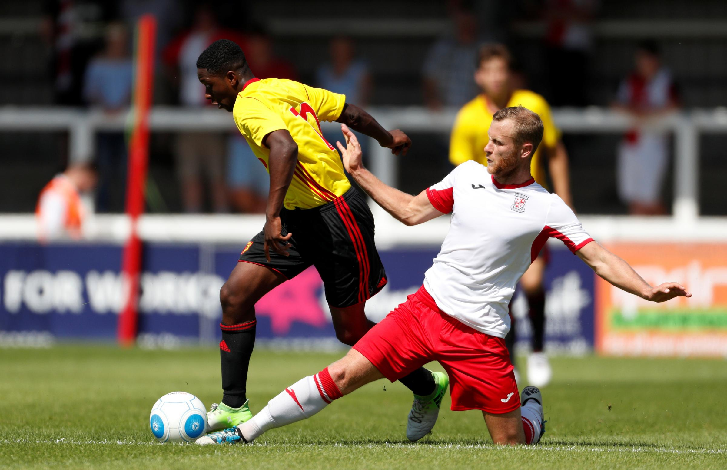 Michael Folivi netted twice in Watford Under-23s' 3-0 win over Colchester United. Picture: Action Images