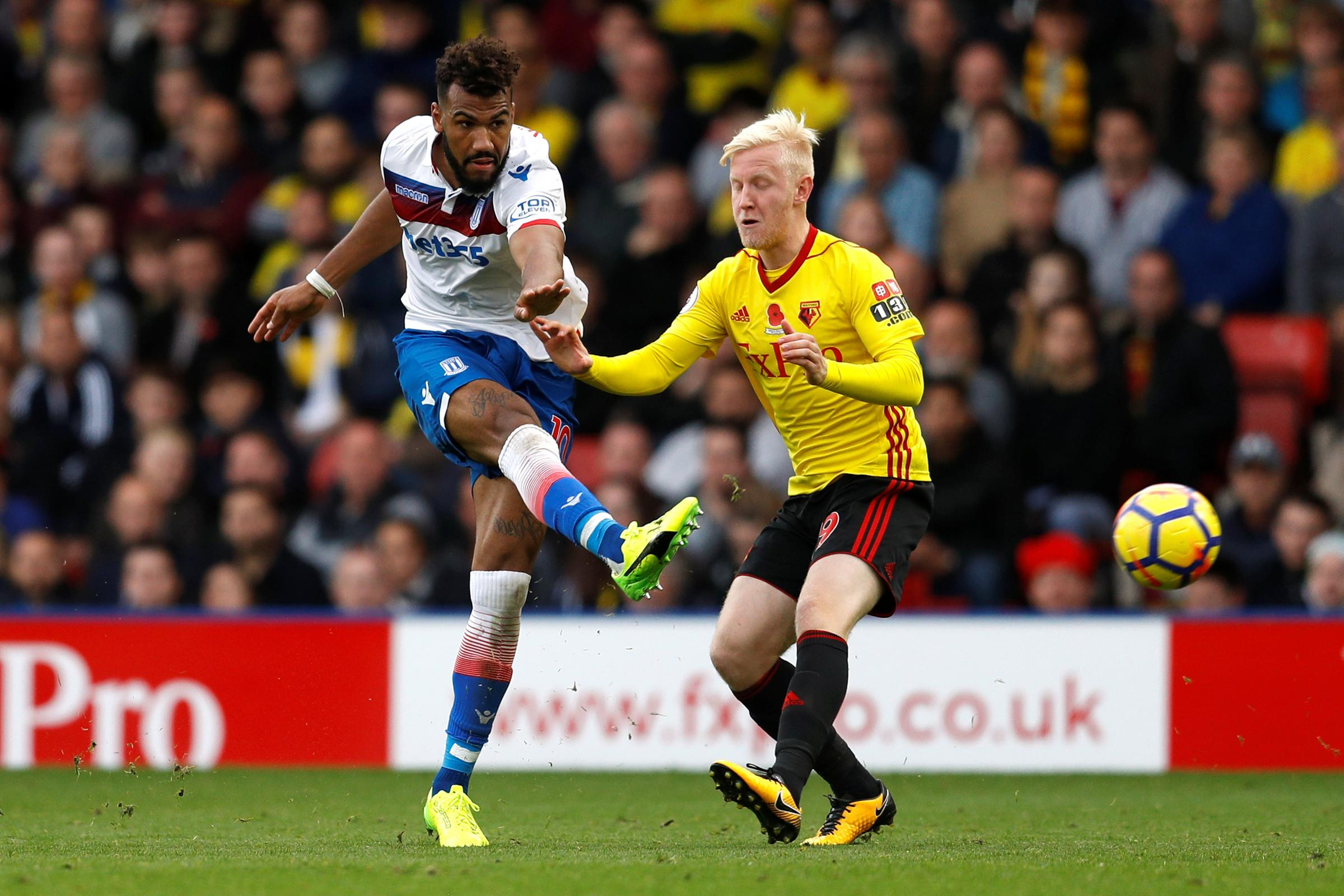 Will Hughes made his debut in the 1-0 defeat to Stoke. Picture: Action Images