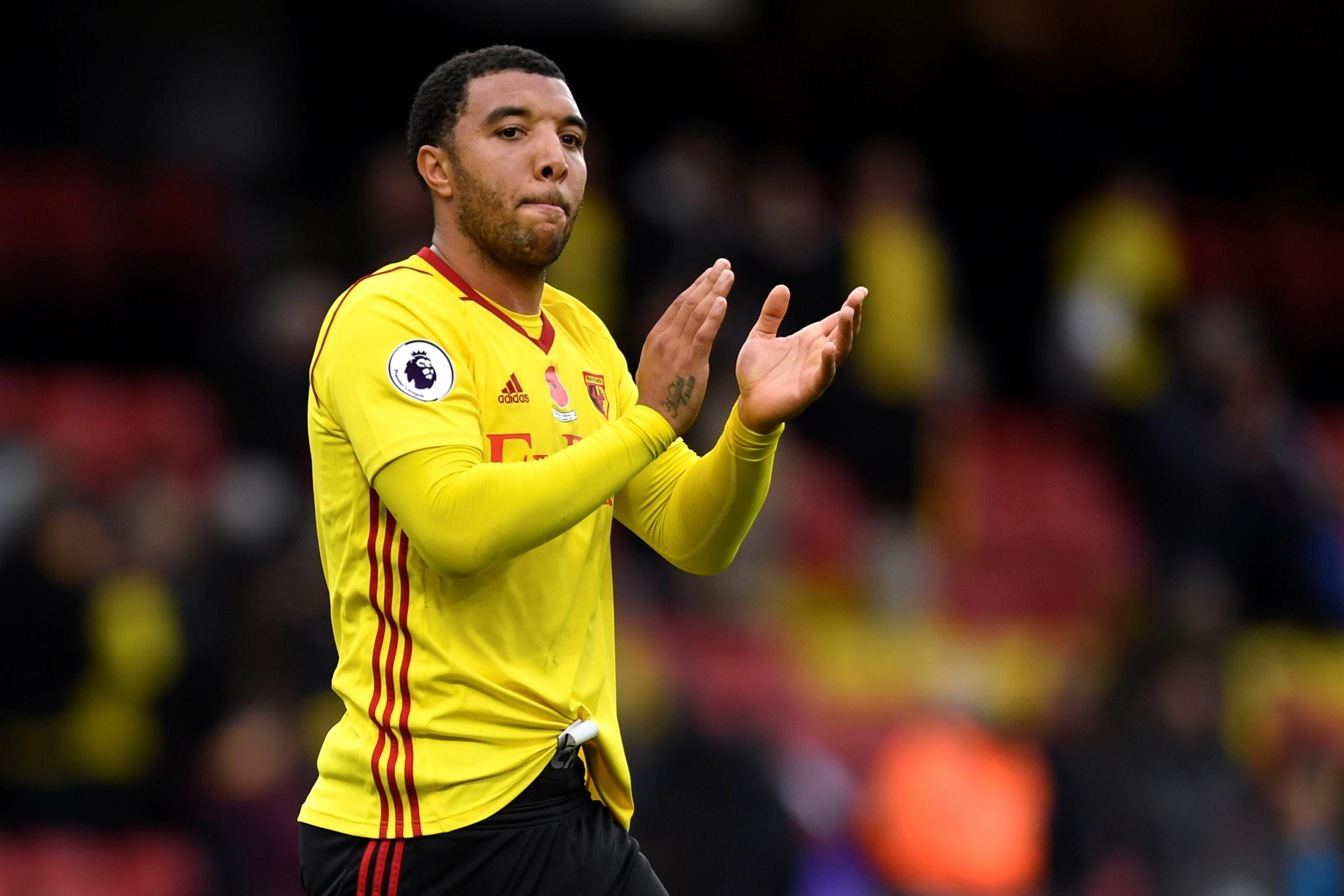 Troy Deeney will sit out Watford's next three games. Picture: Action Images