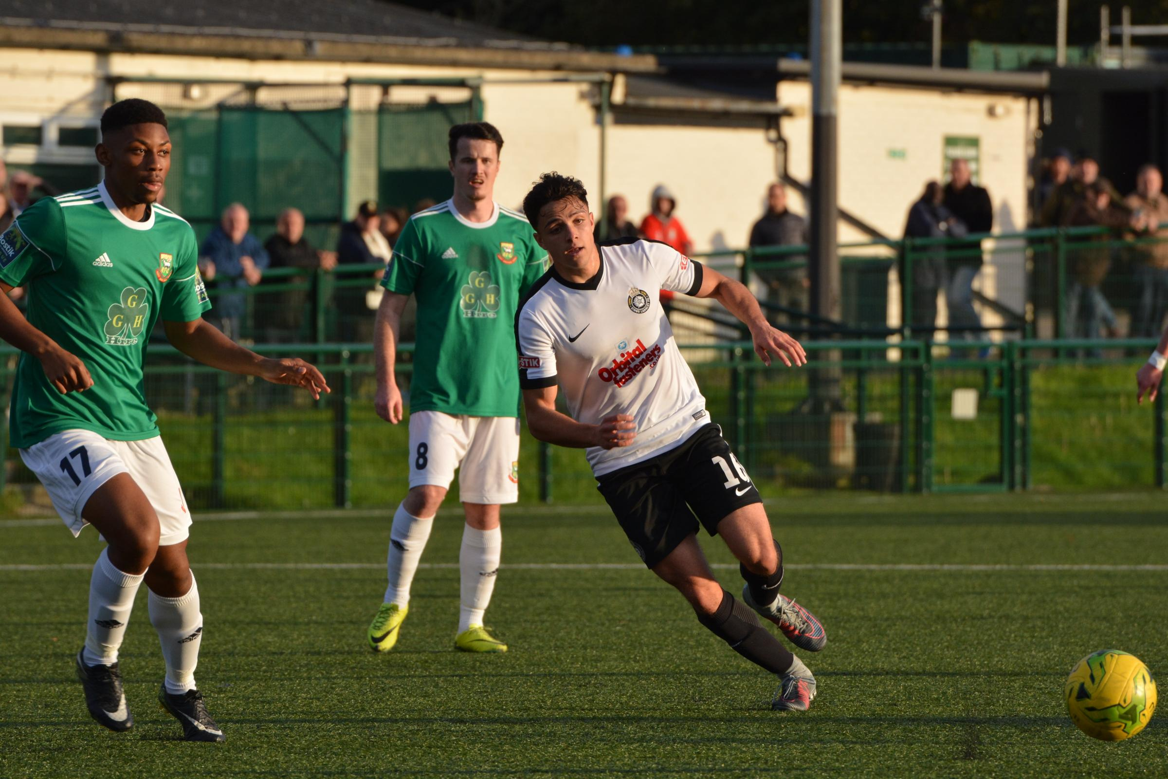 Ceykan Karagozlu capped his first Kings Langley start with his side's third goal. Picture: Chris Riddell