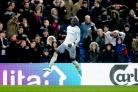 Everton's Oumar Niasse celebrates scoring his side's second goal of the game during the Premier League match at Selhurst Park, London.
