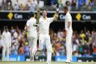 Australia's Steve Smith celebrates his century (Jason O'Brien/PA Wire)