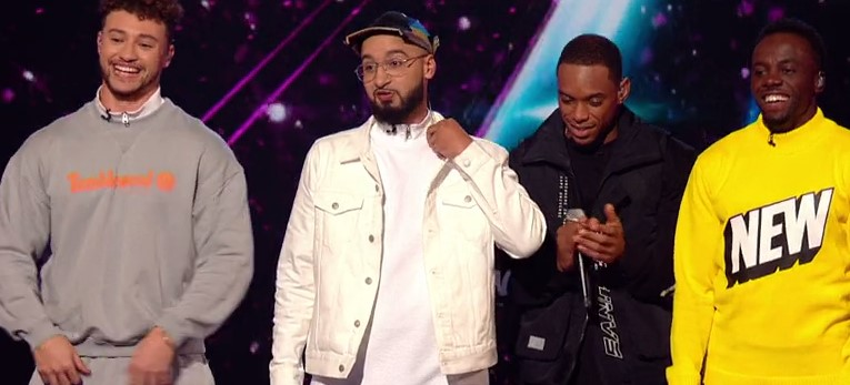 Rak-Su pictured during a performance on the X-Factor