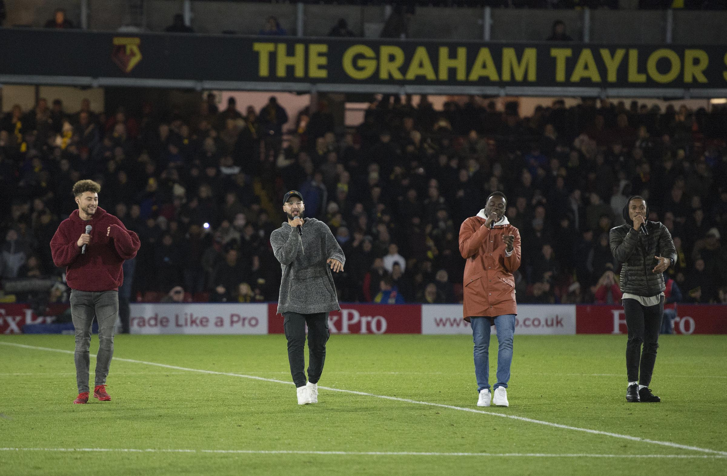 Rak-Su took to the Vicarage Road pitch at half-time during Watford's match against Manchester United (Photo: Alan Cozzi/Watford FC)