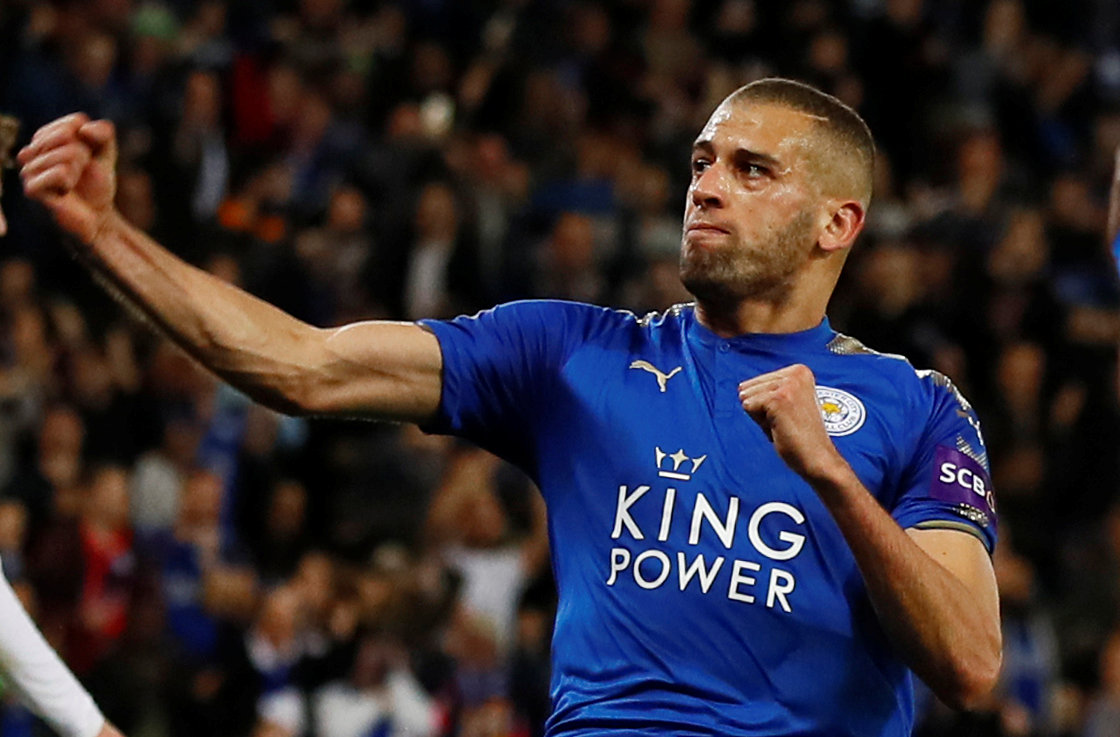 Islam Slimani has scored seven times in 30 Premier League games for Leicester. Picture: Action Images