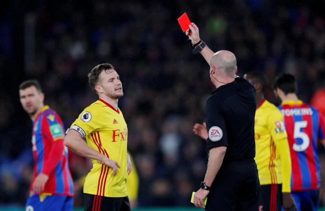 Marco Silva refused to blame Tom Cleverley's red card for the defeat. Picture: Action Images