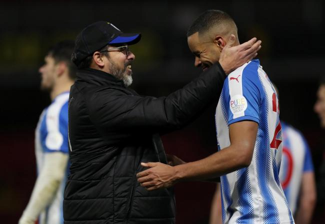 A beaming David Wagner celebrates Huddersfield Town's dominant win over Watford. Picture: Action Images