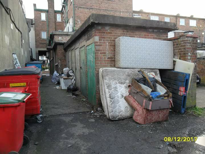 CCTV cameras have been set up in fly tipping hotspots, including this one in Borehamwood