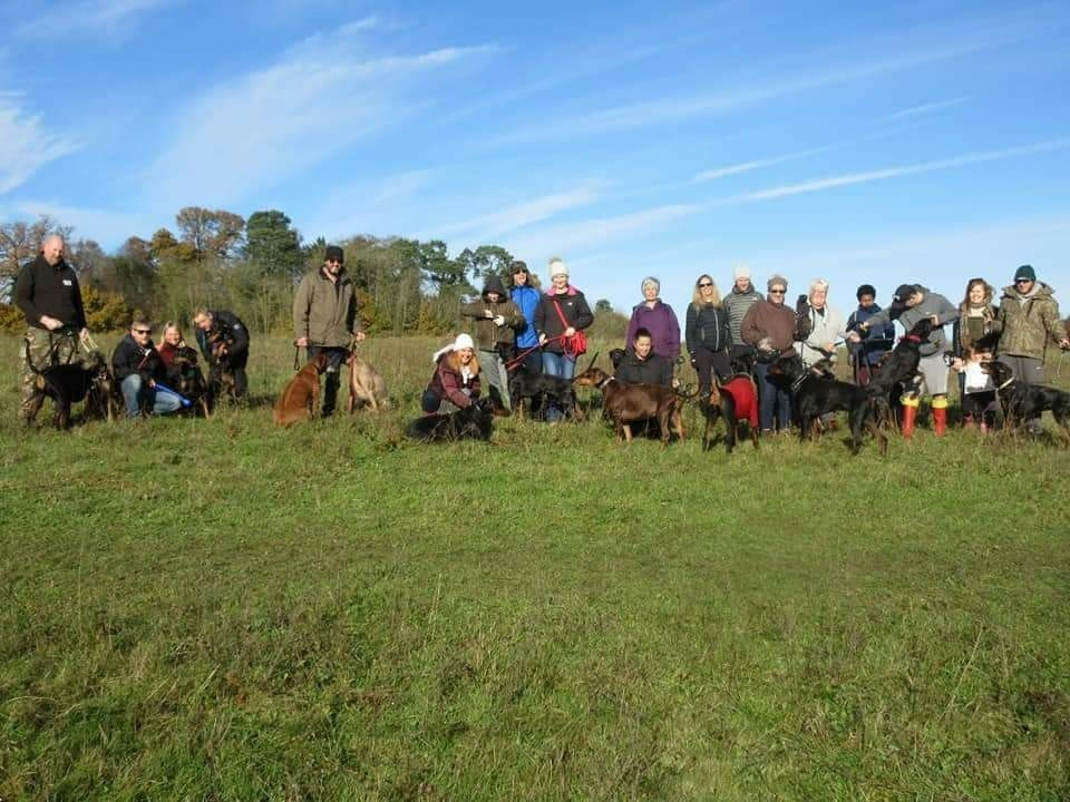 Doberman Walkers Together UK are meeting Santa at Pet Partners in St Albans