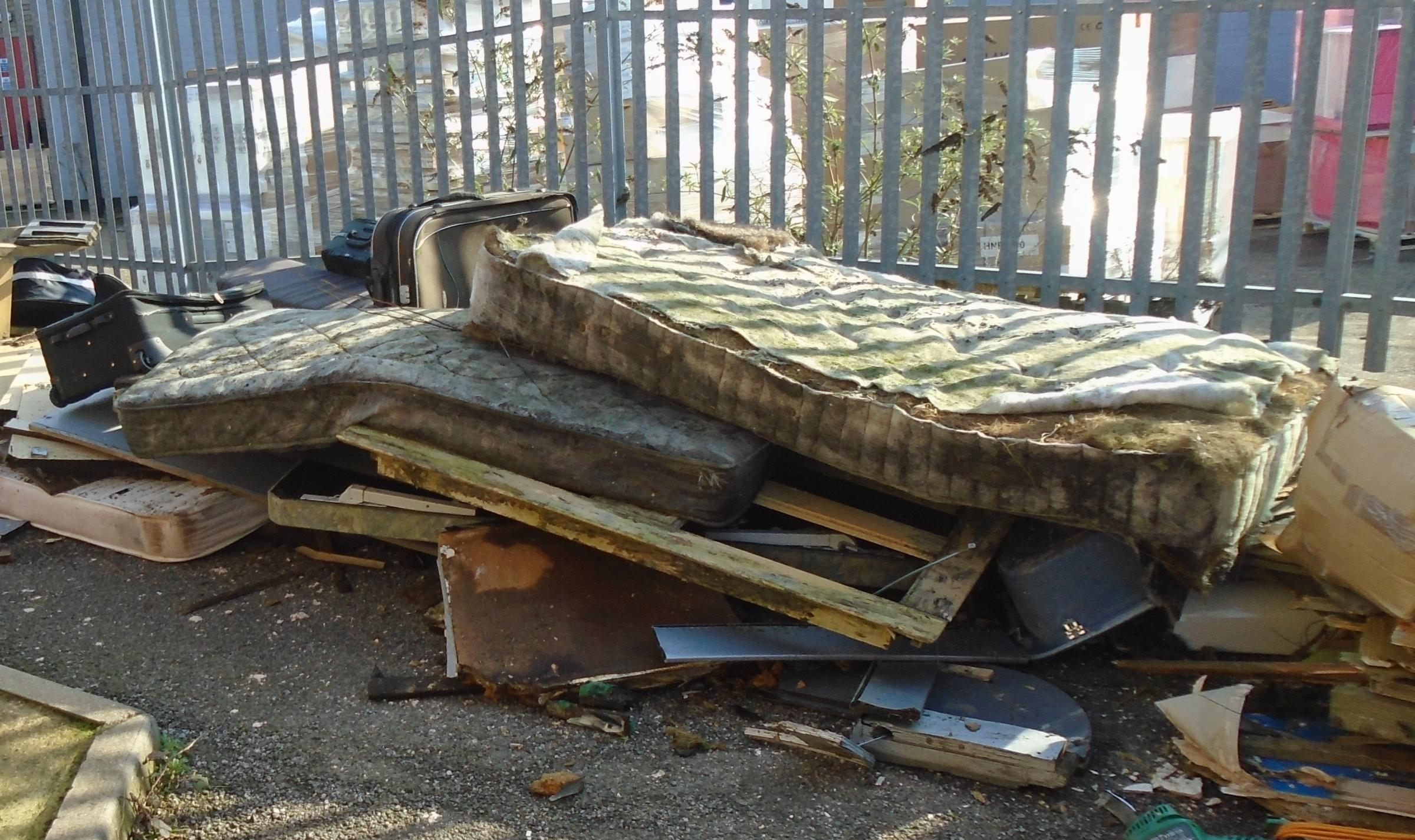 An example of flytipping in Watford