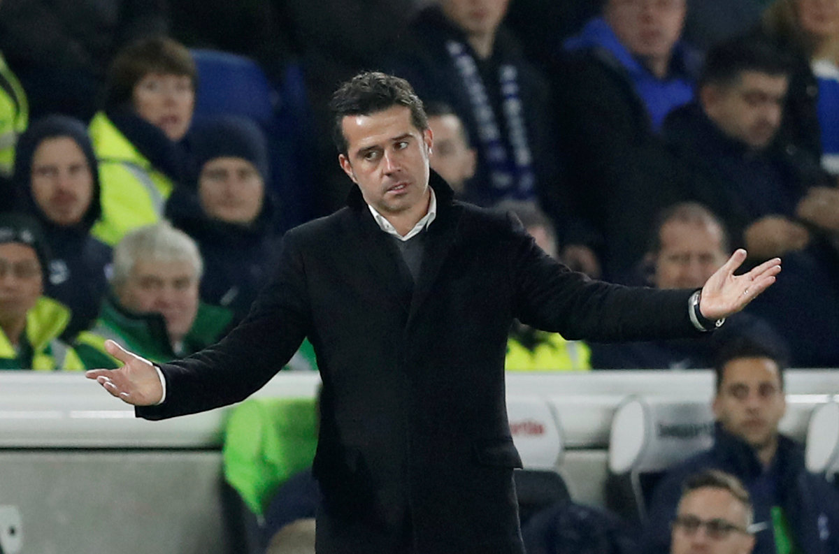 Marco Silva on the touchline at the Amex Stadium. Picture: Action Images