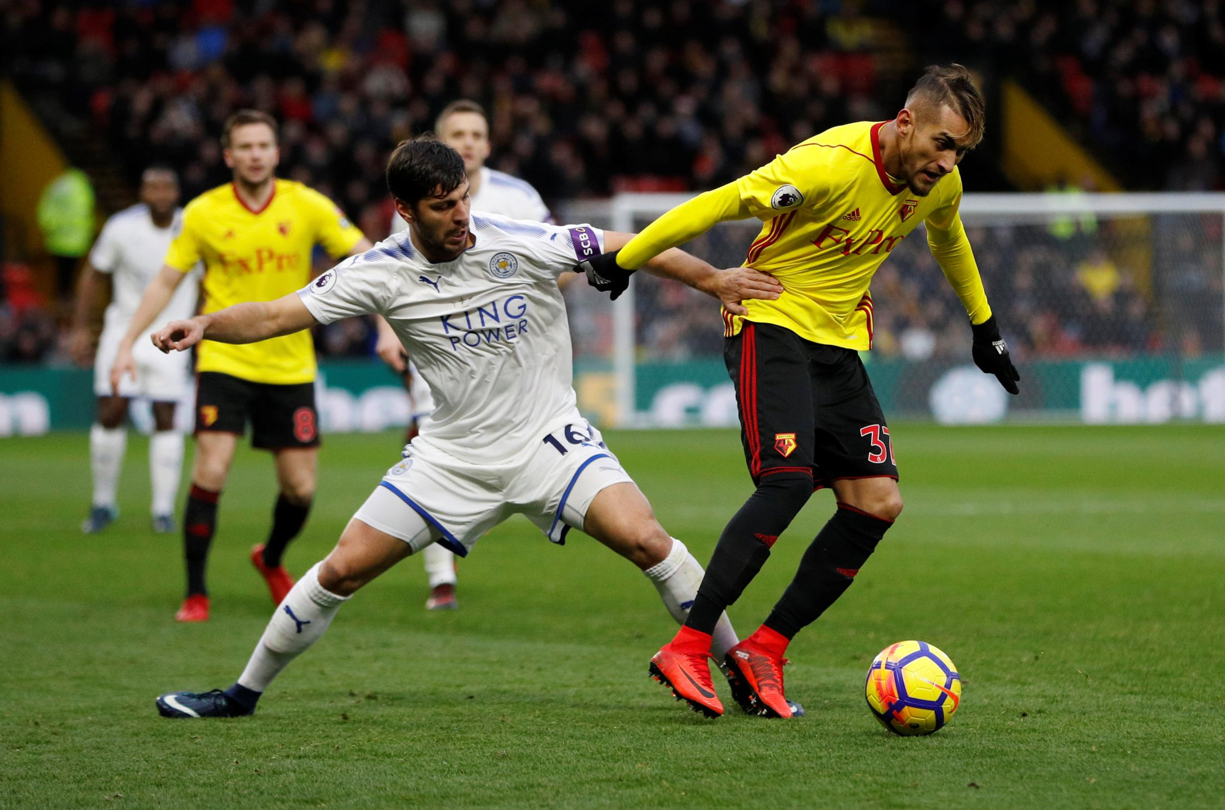 Roberto Pereyra has managed more than an hour in just five of his 15 Premier League games this season. Picture: Action Images