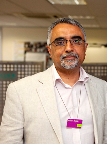 Rilesh Jadeja, 58, who heads up the Department for Work and Pensions' Access to Work scheme