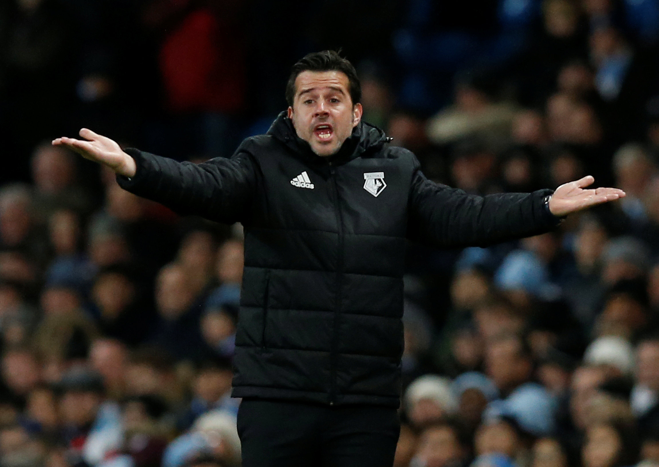 Marco Silva's Watford have lost six of their last seven games after tonight's defeat. Picture: Action Images