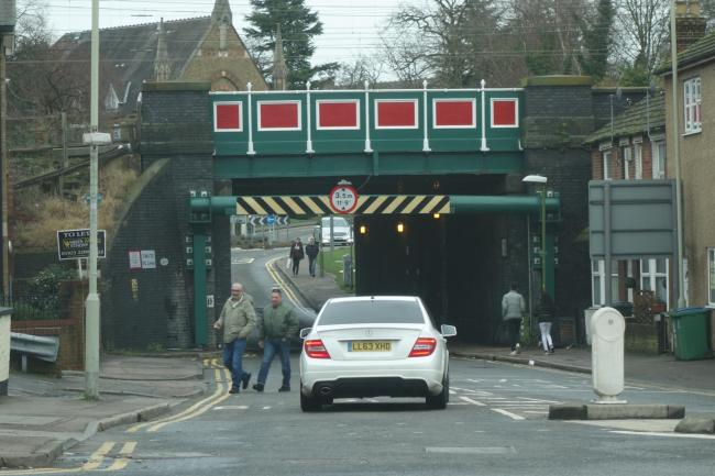 The bridge has had its height reduced and a councillor fears it is not well signposted