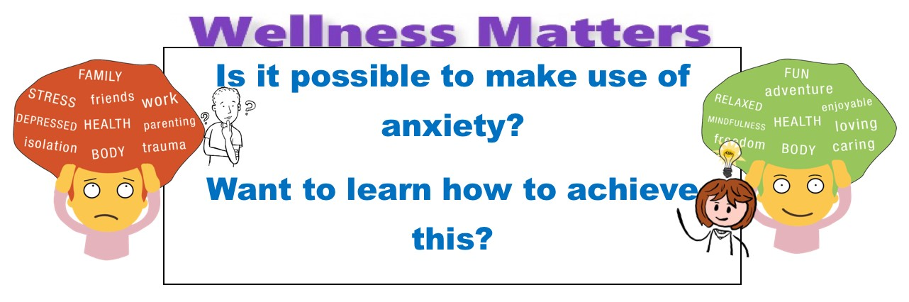 MANAGING ANXIETY: Part 2 Reducing your anxiety and make it work for you