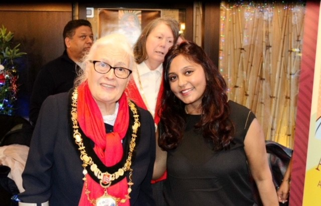 Manasi Adholiya (right) with the Mayor of Harrow, Cllr Margaret Davine Picture: Bliss in Photos