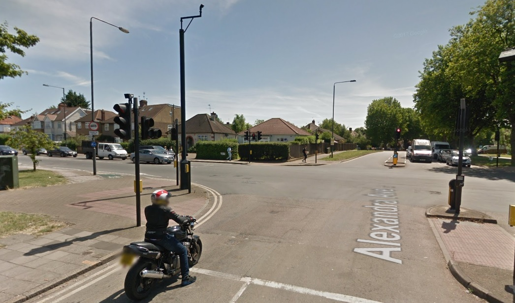 The attack took place at the junction at Alexandra Avenue and Eastcote Lane in South Harrow (Photo: Google Maps)