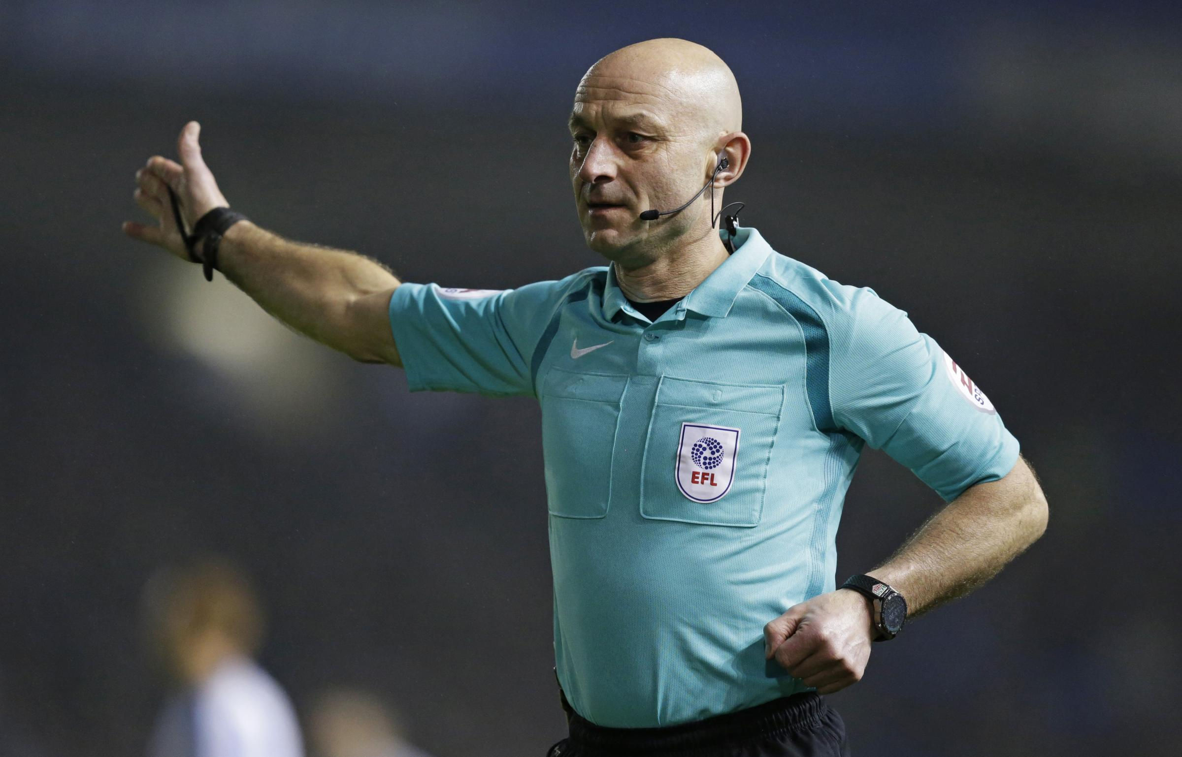 Roger East will referee Watford for the second time this season. Picture: Action Images