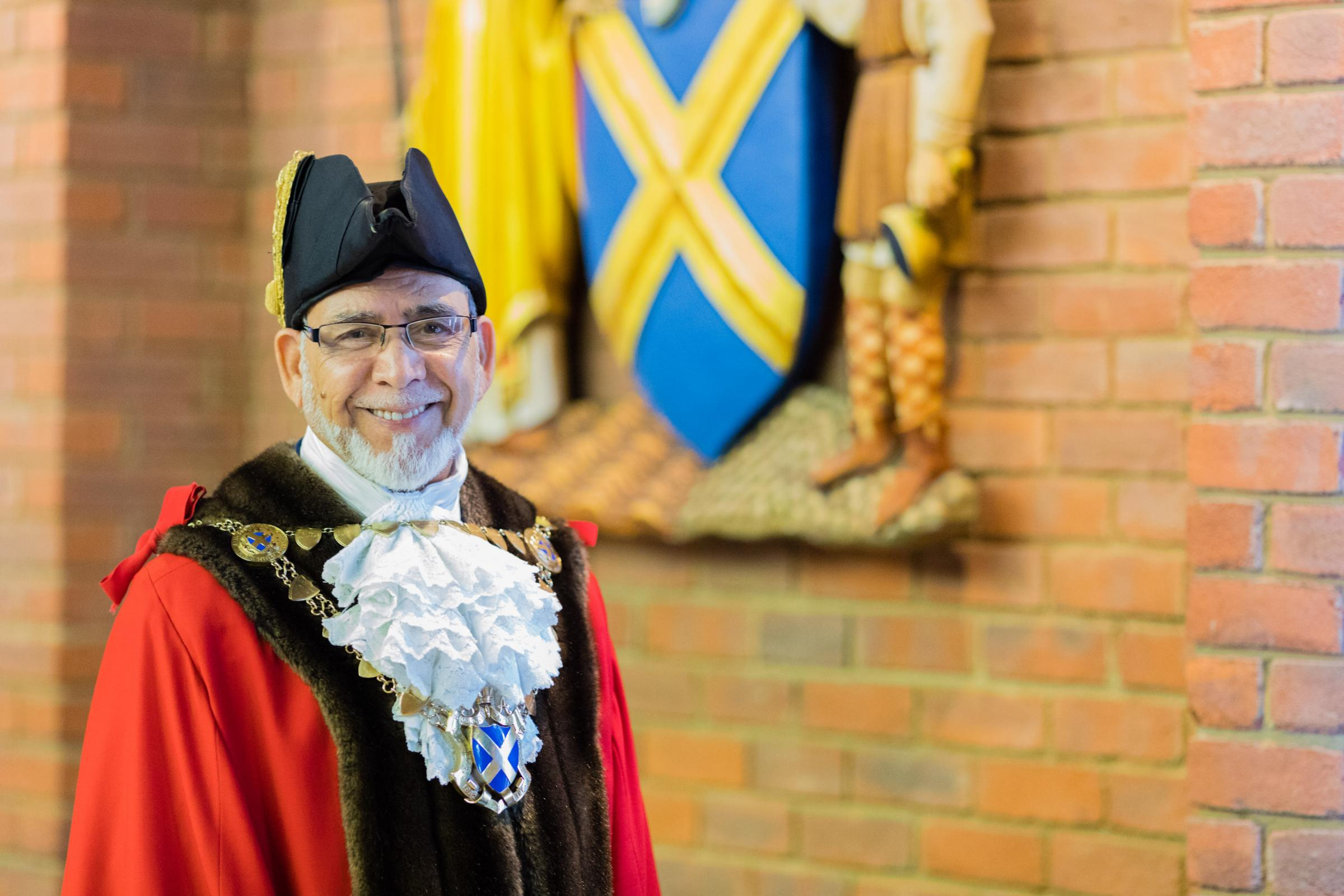 The Mayor of the City and District of St Albans, Cllr Mohammad Iqbal Zia