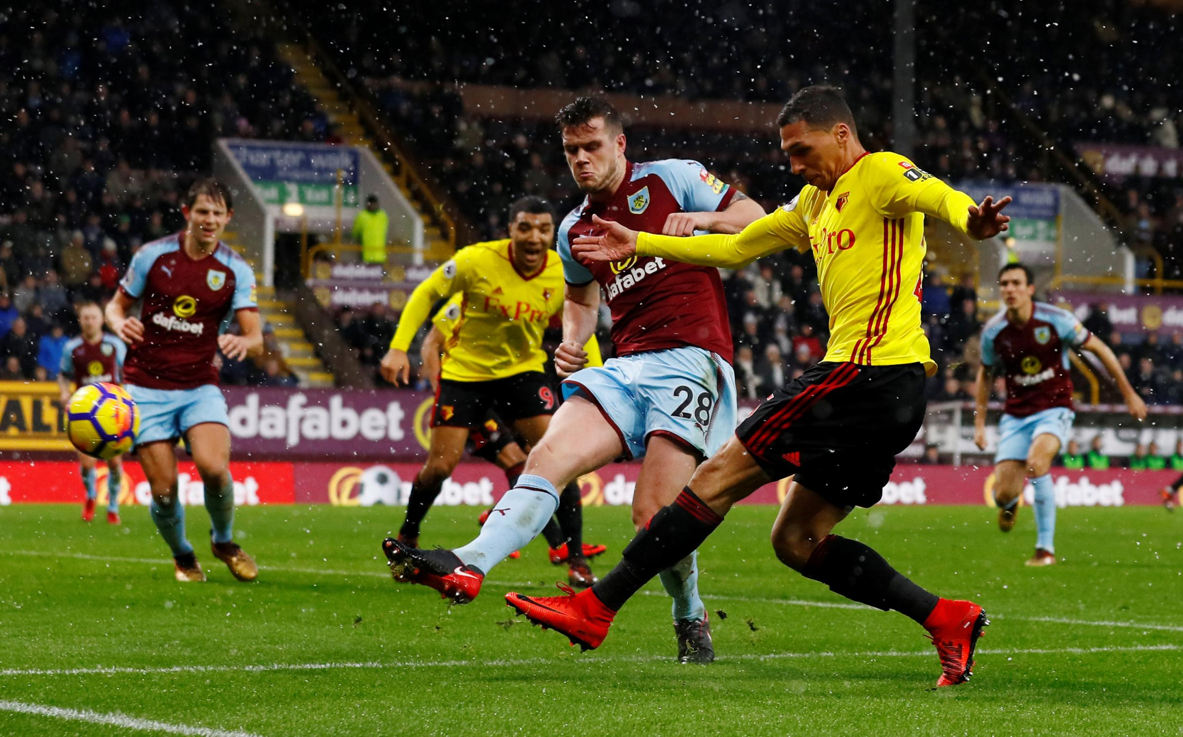 Jose Holebas believes Watford can compete for a European spot in the future. Picture: Action Images