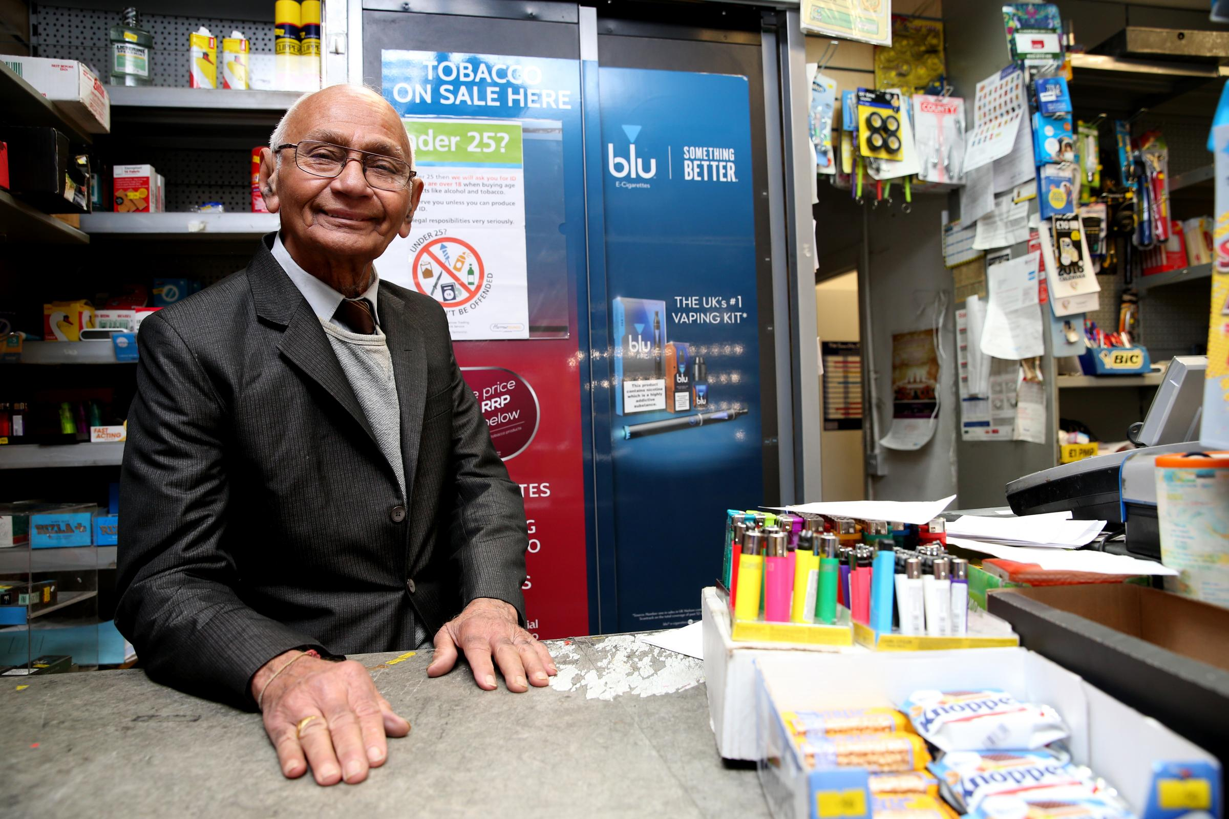 Gulab Gandhi, who is stepping down from Canons Park Newsagents after 37 years (Photo: Holly Cant)