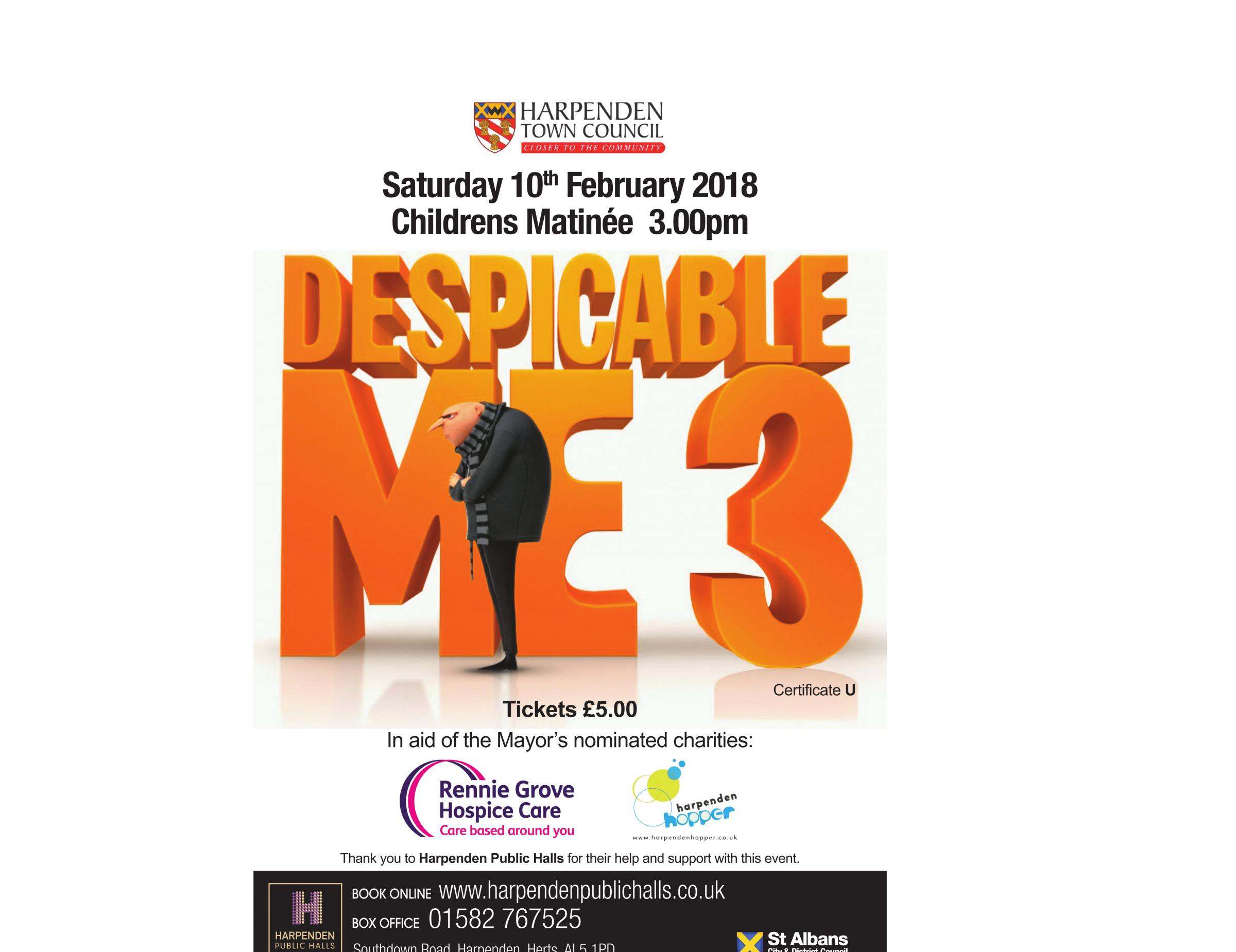 Despicable Me 3 - Harpenden Mayor's Charity Matinee