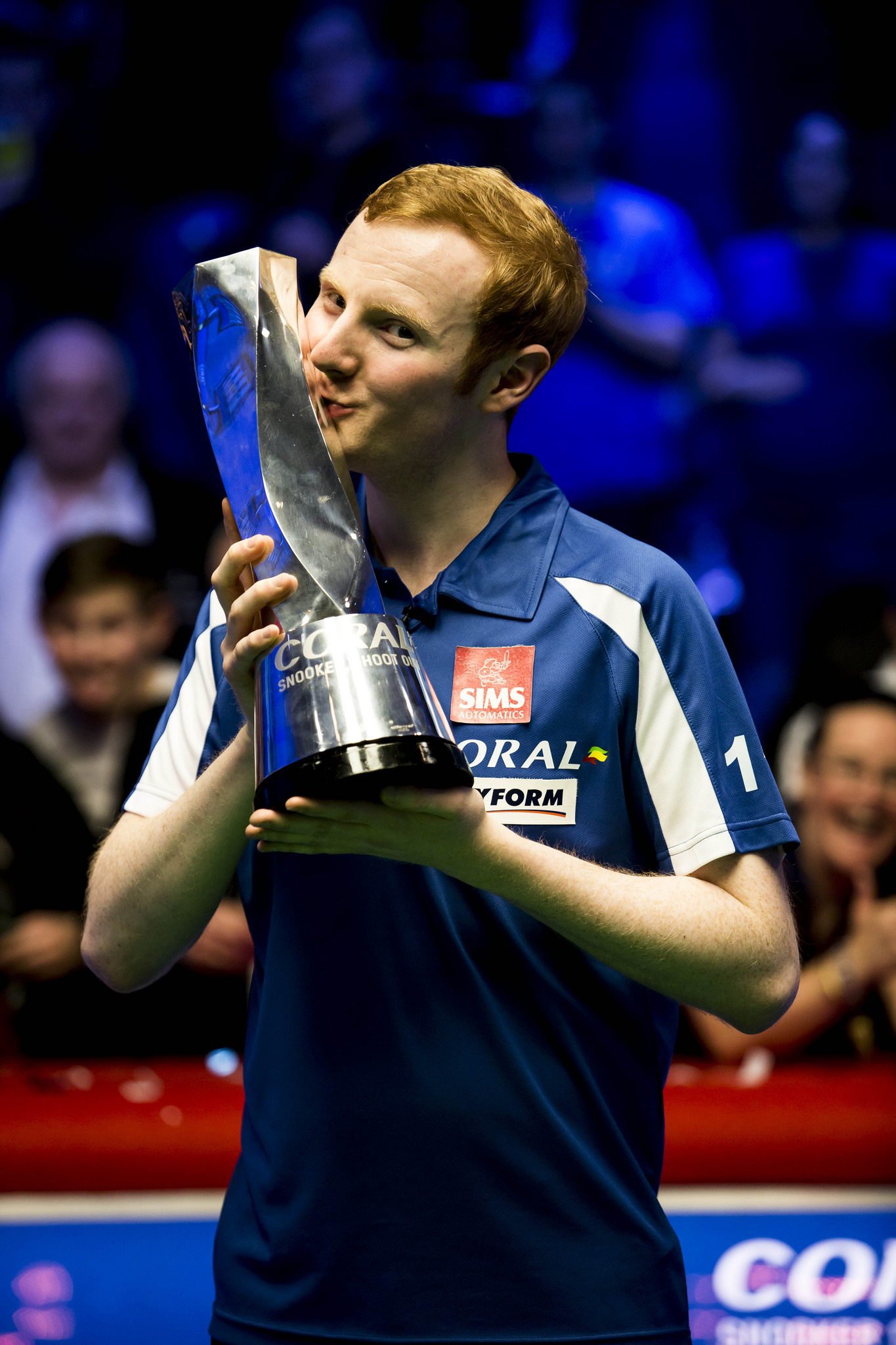 Anthony McGill celebrating his triumph last year.