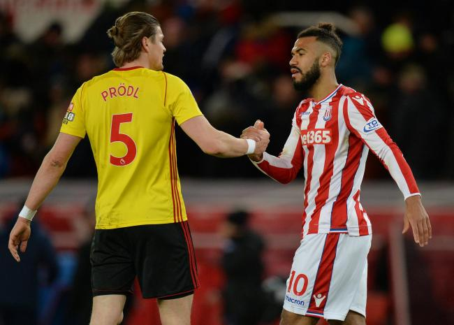 Sebastian Prodl helped Watford to a goalless draw at Stoke on Wednesday. Picture: Action Images