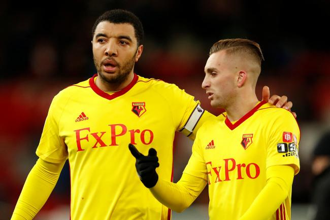 c01fa98a436e9 Gerard Deulofeu (right) impressed on his Watford debut. Picture  Action  Images