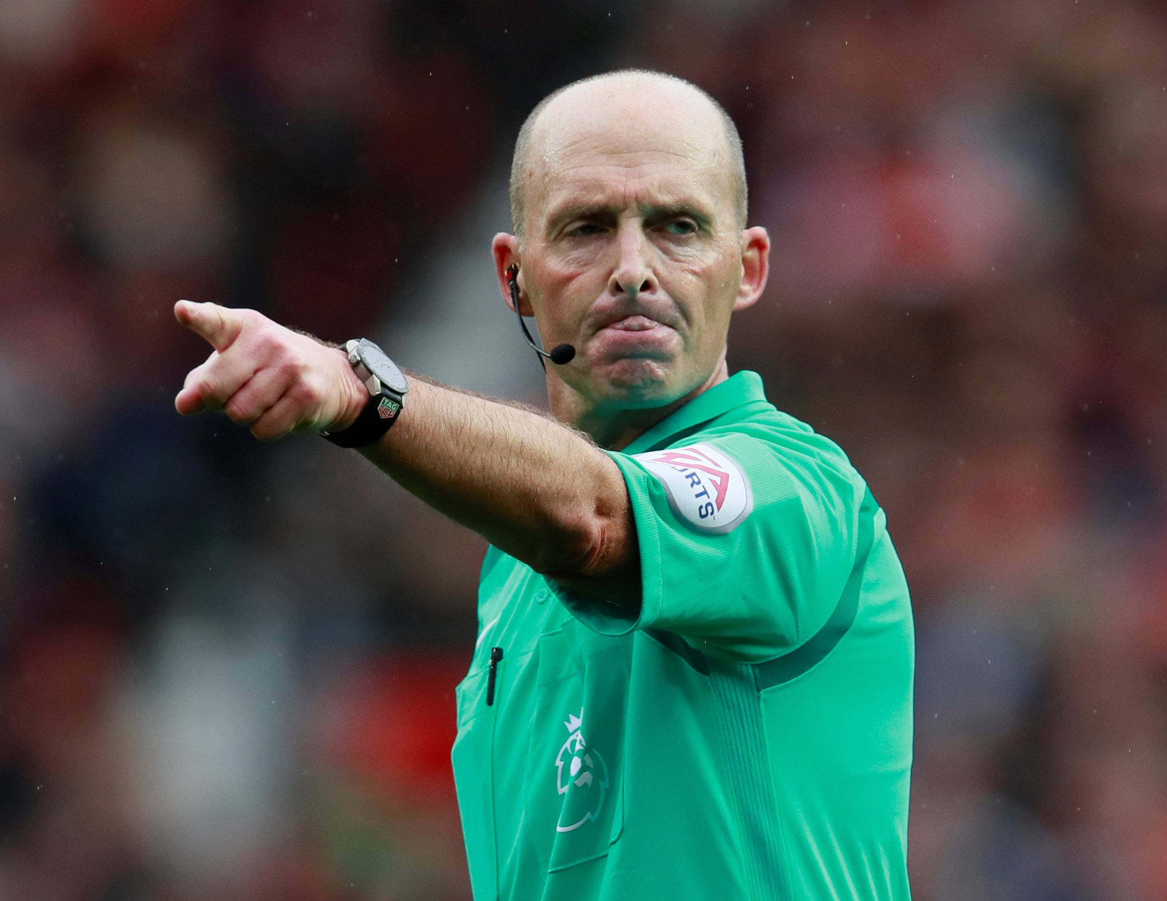 Mike Dean has replaced Craig Pawson as referee for tonight's game with Chelsea. Picture: Action Images