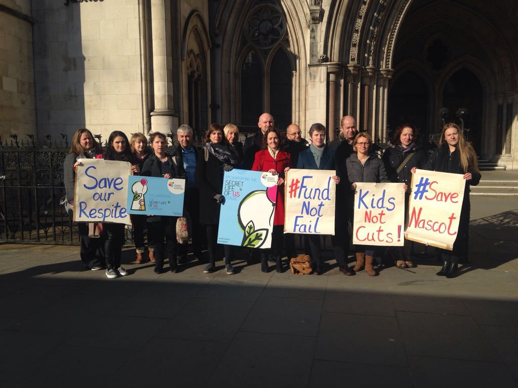 Parents protesting against the HVCCG's decision to stop funding Nascot Lawn. Image taken by Rachel Russell