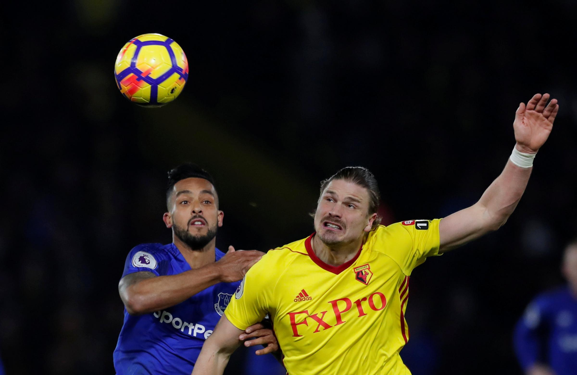 Sebastian Prodl helped Watford put in a solid defensive display against Everton. Picture: Action Images