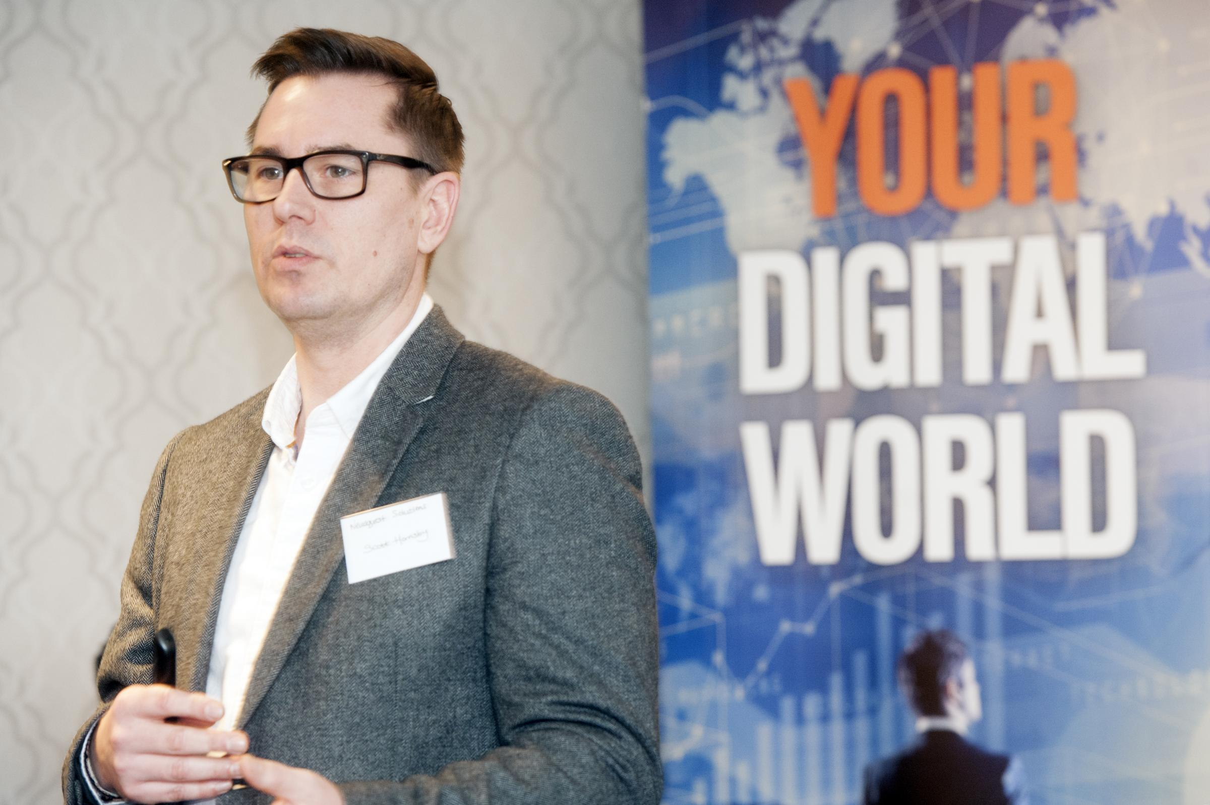 Newsquest London's digital & social media editor Scott Hornsby speaks at the Observer's first digital seminar