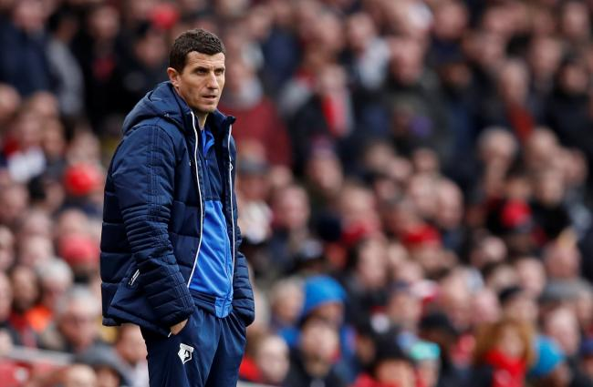 Javi Gracia on the Emirates sidelines. Picture: Action Images
