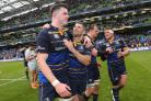 Leinster's James Ryan and Rob Kearney celebrate their victory (Lorraine O'Sullivan/PA)