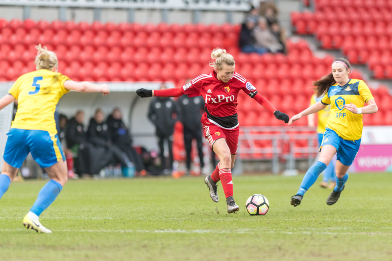 Anneka Nuttall pulled a goal back for Watford. Picture: AW Images