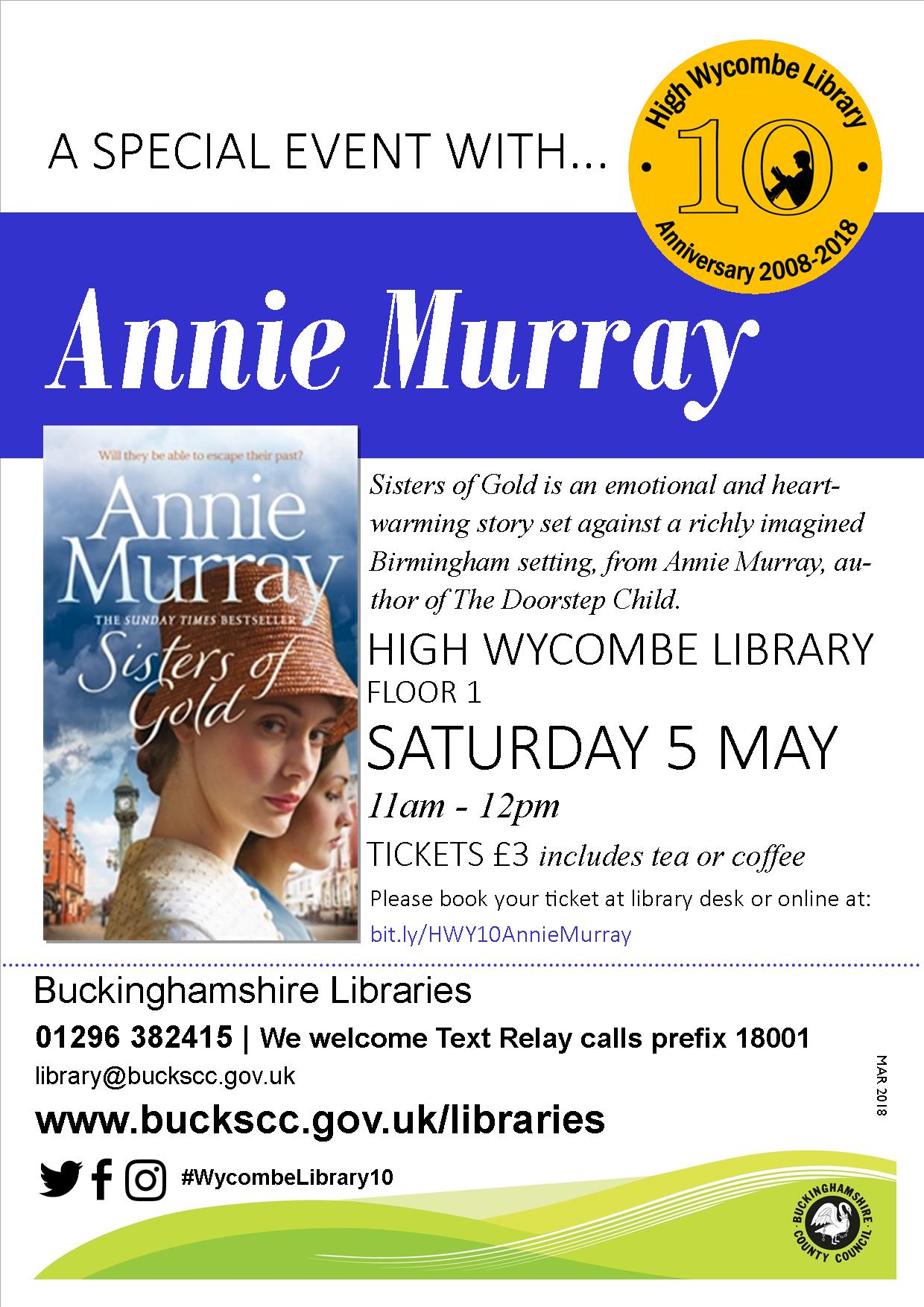 A Special Event with Annie Murray