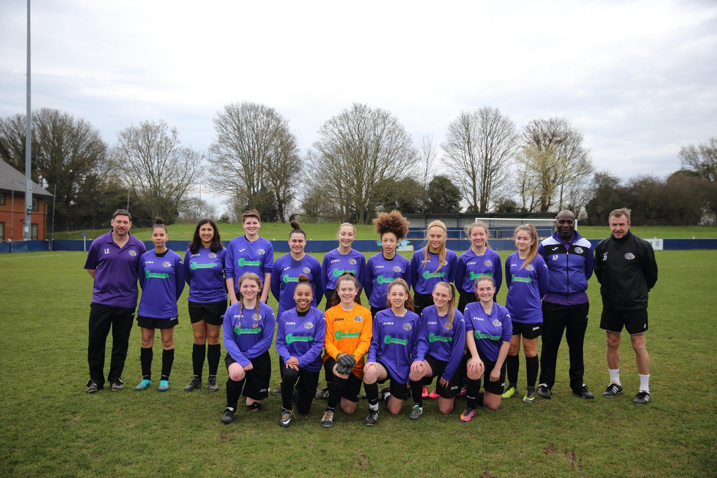 Garston Ladies Under-16 Pumas won the County Cup