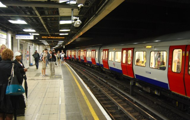 Strike action is leading to delays on the District Line