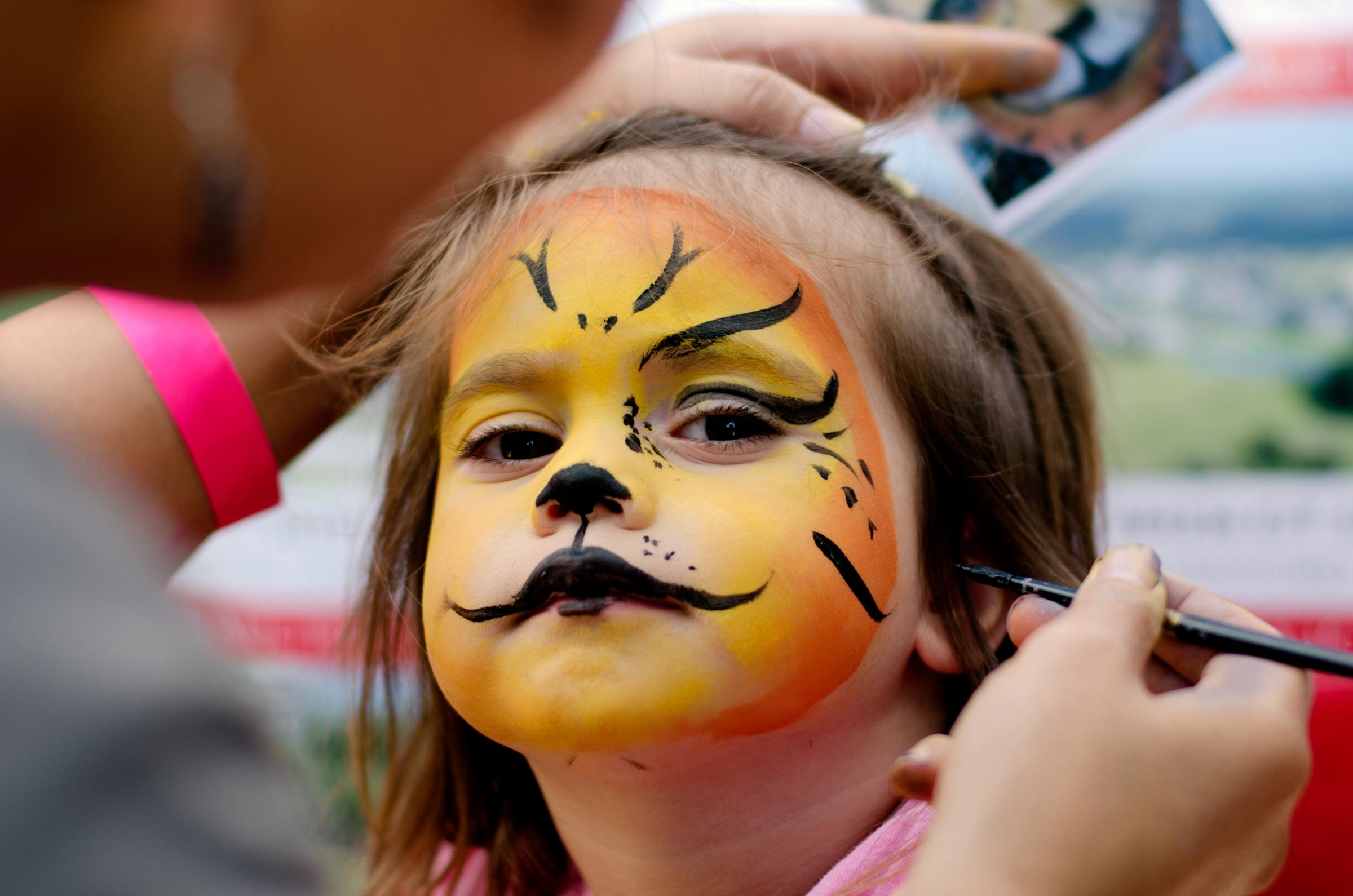 Children can have their faces painted this weekend at Cassiobury Park