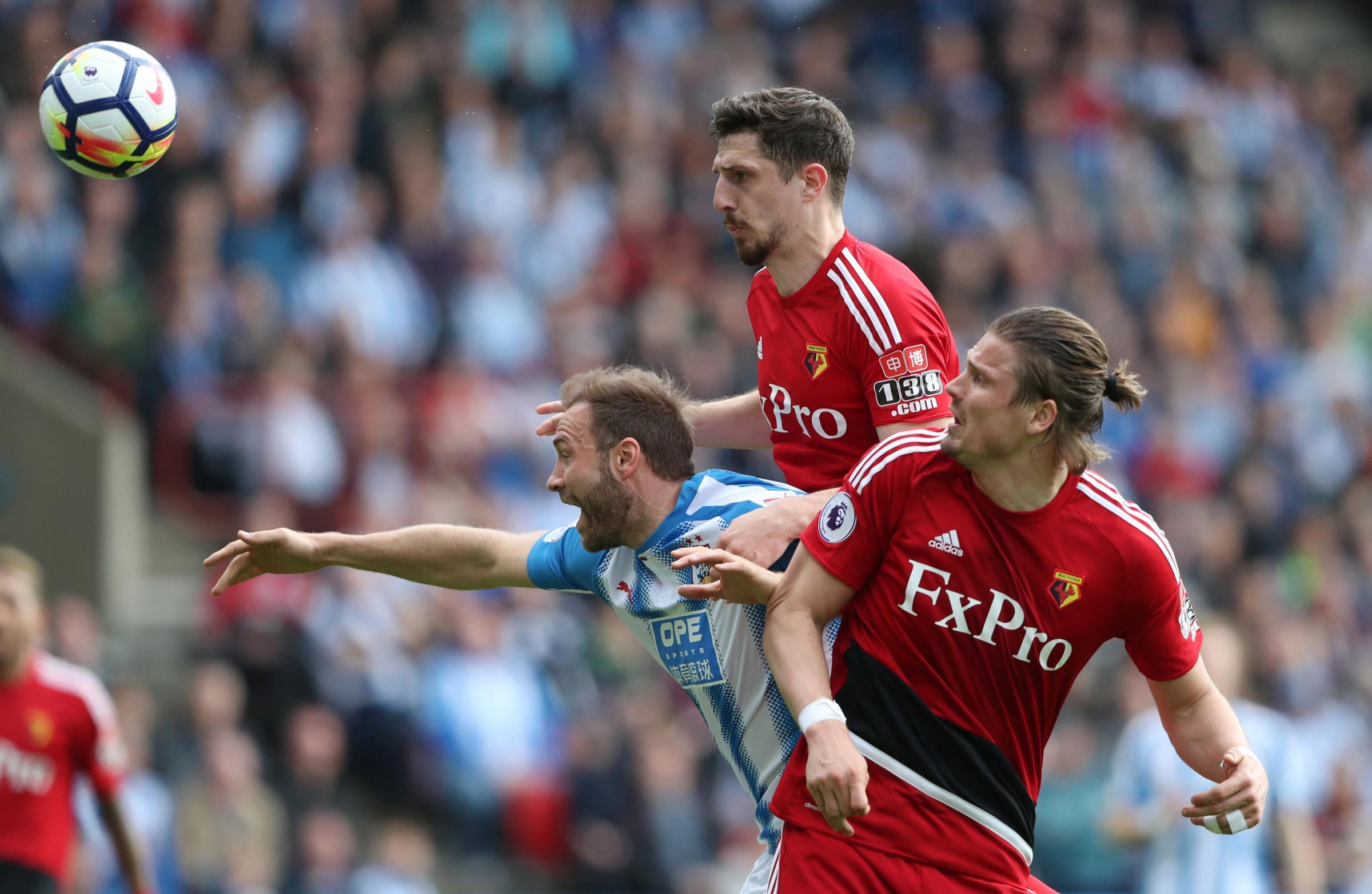 Craig Cathcart made his start of the season on Saturday. Picture: Action Images