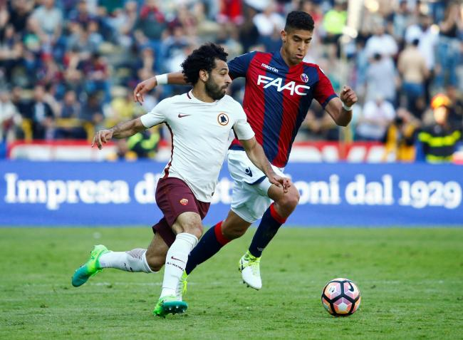 Adam Masina in action against Roma during the 2016/17 season. Picture: Action Images